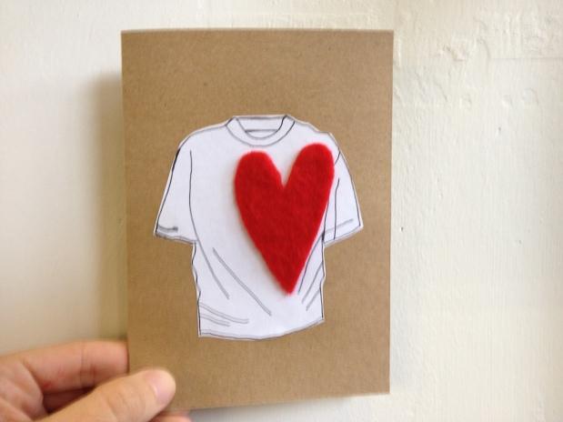 heart on sleeve.