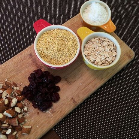 millet granola ingredients
